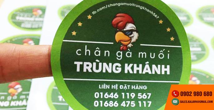 KALa nhận in tem nhãn decal giá rẻ tại TPHCM