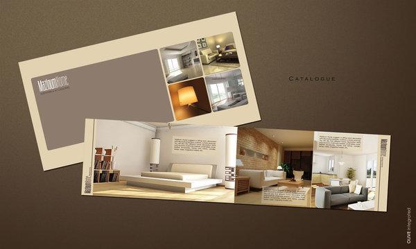 Bìa mẫu catalogue nội thất đồ gỗ khổ hình chữ nhật nằm ngang