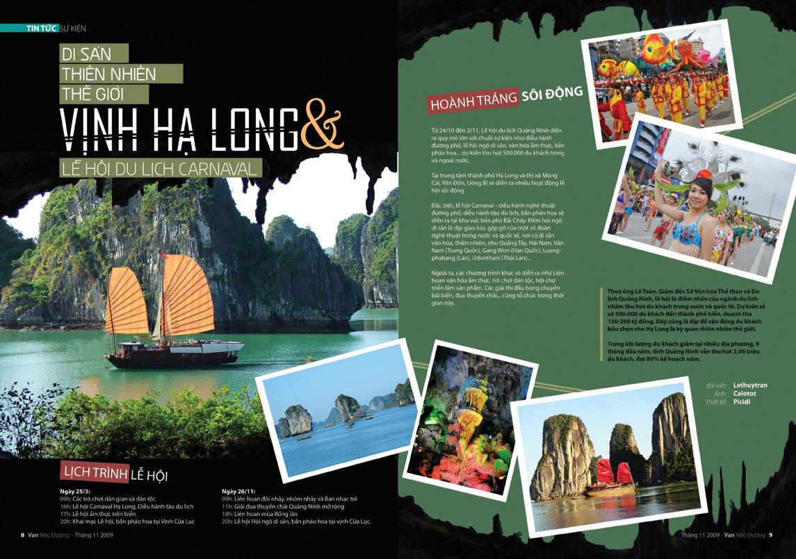 Mẫu catalogue du lịch về Việt Nam 1