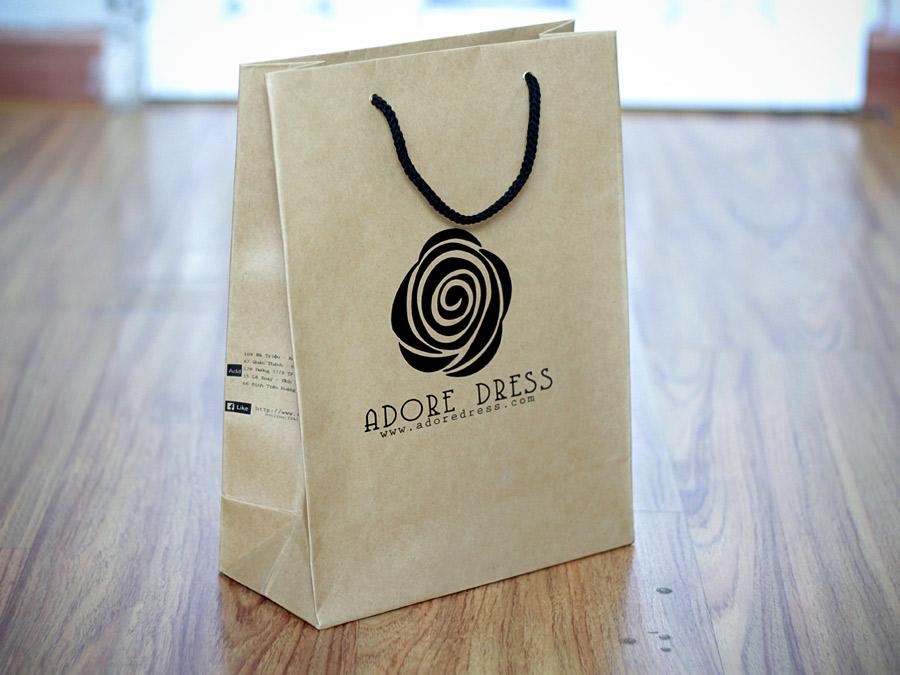 túi giấy kraft, túi giấy giá sỉ, túi giấy handmade
