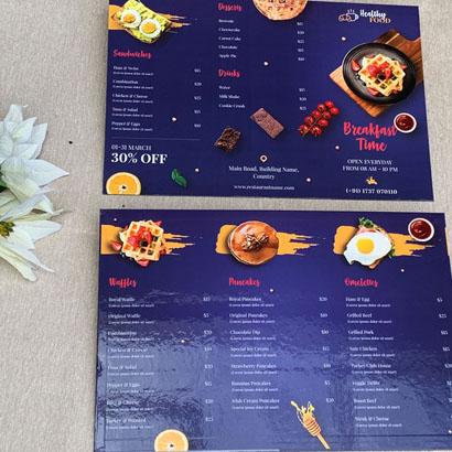 In menu bìa bồi 1 tờ