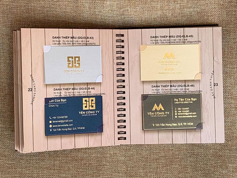 Mẫu In Danh Thiếp - Thẻ Nhân Viên - Name Card Nhựa 01 | KALAPRESS.VN