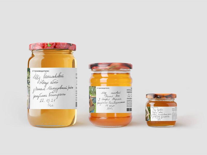 In tem nhãn decal giấy Bashkir Honey 01 | KALAPRESS.VN