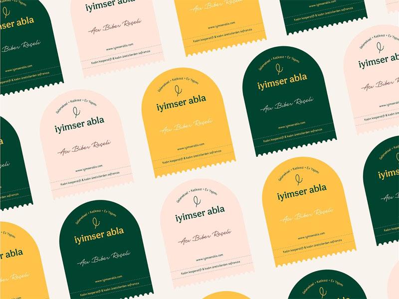 Iyimser Abla - Mẫu tem nhãn đậm chất truyền thống, tự nhiên 02 | KALAPRESS.VN