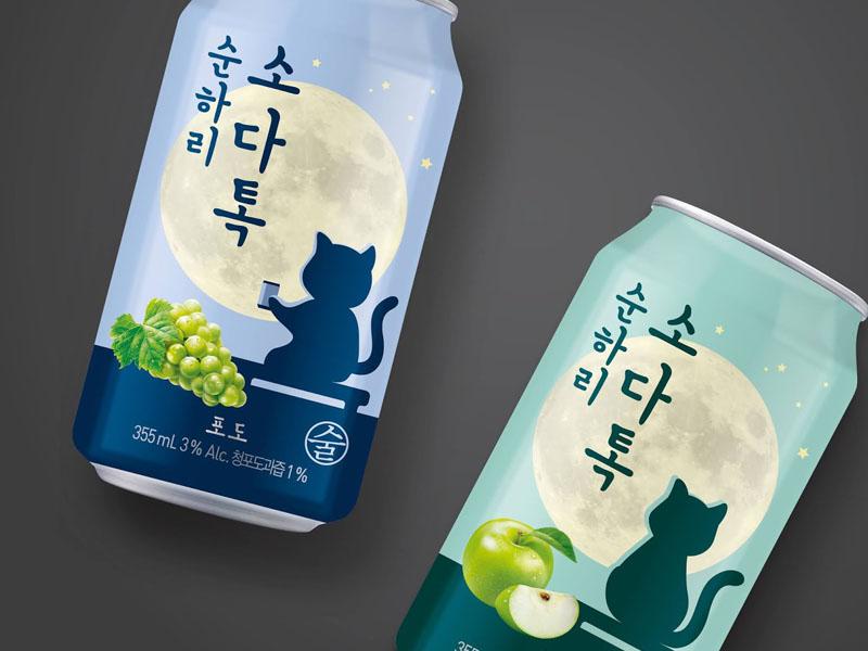 Mẫu thiết kế in ấn lon Soonhari Soda Tok 02   KALAPRESS.VN