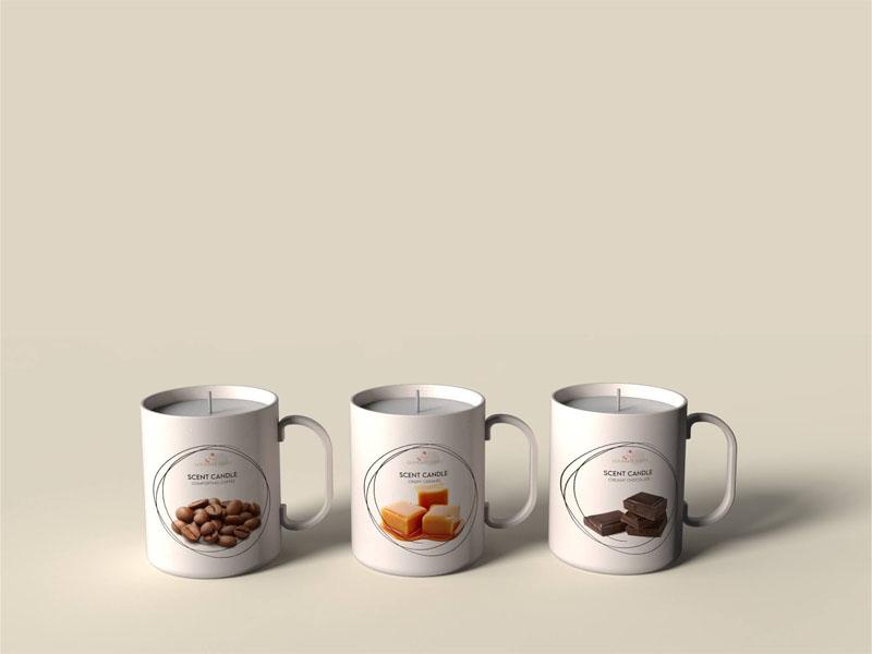 Mẫu thiết kế và in bao bì, cốc đựng nến thơm quà tặng MINISO 04 | KALAPRESS.VN