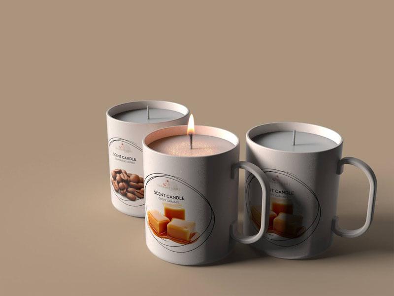 Mẫu thiết kế và in bao bì, cốc đựng nến thơm quà tặng MINISO 06 | KALAPRESS.VN