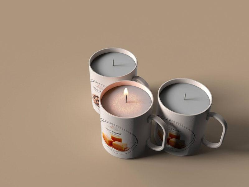 Mẫu thiết kế và in bao bì, cốc đựng nến thơm quà tặng MINISO 07 | KALAPRESS.VN