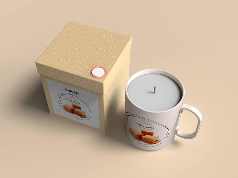 Mẫu thiết kế và in bao bì, cốc đựng nến thơm quà tặng MINISO 10 | KALAPRESS.VN