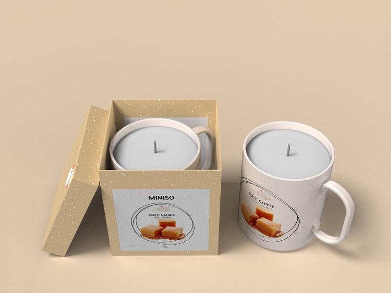 Mẫu thiết kế và in bao bì, cốc đựng nến thơm quà tặng MINISO 14 | KALAPRESS.VN