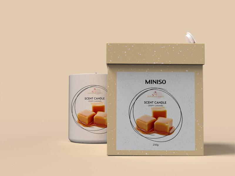 Mẫu thiết kế và in bao bì, cốc đựng nến thơm quà tặng MINISO 15 | KALAPRESS.VN