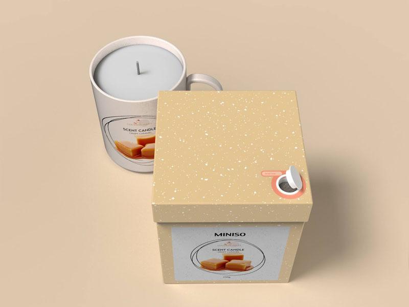 Mẫu thiết kế và in bao bì, cốc đựng nến thơm quà tặng MINISO 16 | KALAPRESS.VN