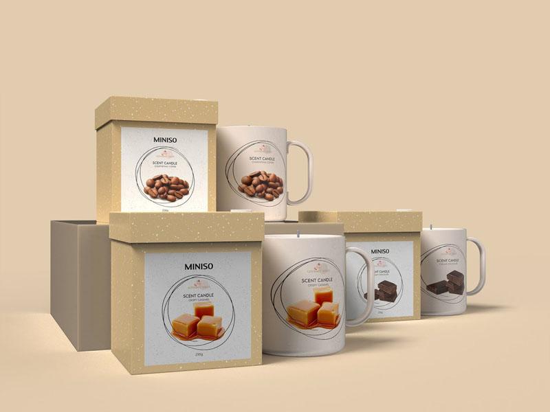 Mẫu thiết kế và in bao bì, cốc đựng nến thơm quà tặng MINISO 17 | KALAPRESS.VN