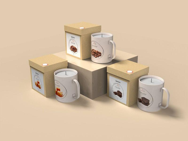 Mẫu thiết kế và in bao bì, cốc đựng nến thơm quà tặng MINISO 18 | KALAPRESS.VN