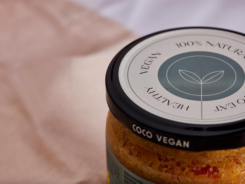 Mẫu thiết kế và in tem nhãn sản phẩm Coco Vegan 05   KALAPRESS.VN