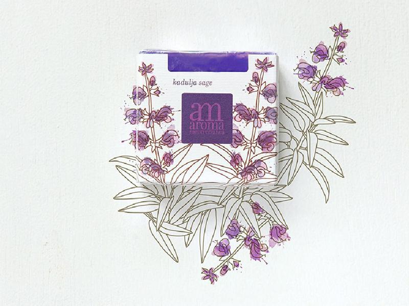Mẫu thiết kế bao bì giấy xà phòng Aroma Mediterranea 01 | KALAPRESS.VN