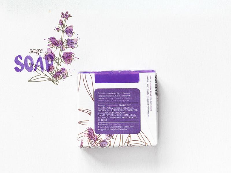 Mẫu thiết kế bao bì giấy xà phòng Aroma Mediterranea 02 | KALAPRESS.VN