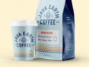 Bao bì nhận diện thương hiệu cà phê Java Earth | in Kalapress