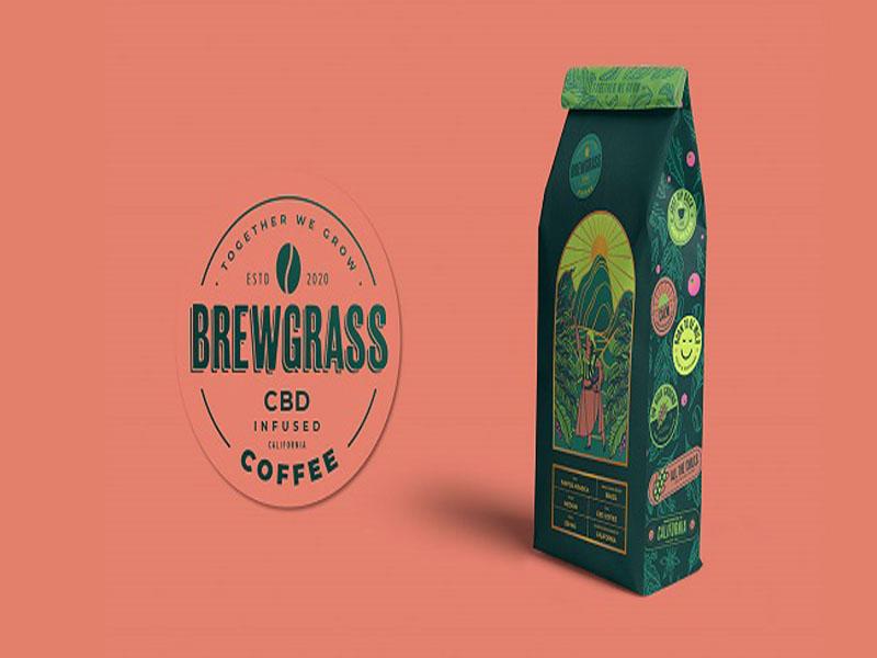 CBD Coffee - Mẫu thiết kế bao bì cà phê nhập tràn nắng gió 02 | IN KALAPRESS