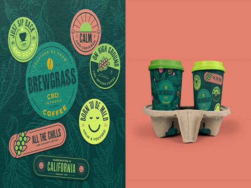 CBD Coffee - Mẫu thiết kế bao bì cà phê nhập tràn nắng gió 03 | IN KALAPRESS